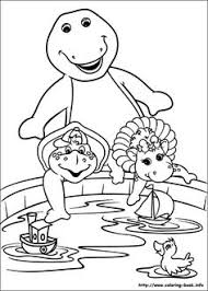 barney smiling happily barney coloring pages