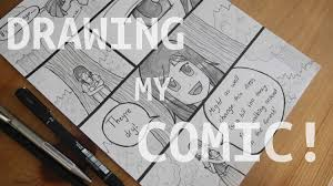 drawing a page of my manga comic how i draw a page youtube