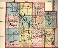 Il County Map Clay County Illinois Maps And Gazetteers