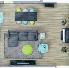 Color Floor Plan Color Rendered Family Room On Behance
