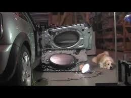 porta mini auto mini cooper door panel removal sound proof diy