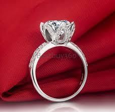 lotus flower engagement ring aliexpress buy 1 carat 925 sterling lotus flower ring sona