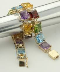 color stone bracelet images Multi color stone bracelet with 14k gold jpg