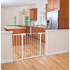 Extra Wide Pressure Fit Safety Gate Easy Install Tall U0026 Wide Gate White