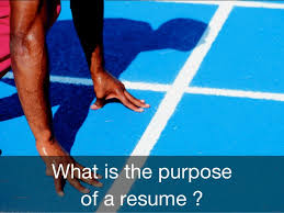 What Is The Purpose Of A Resume Sot 2015 Career Resume