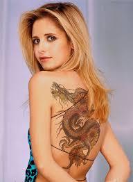 22 full back dragon tattoos for women