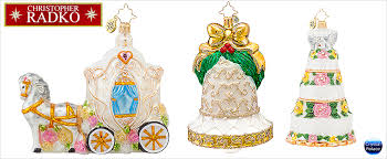 christopher radko bridal christmas ornaments