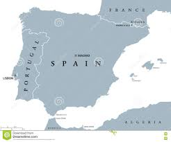 Spain And Portugal Map by Portugal And Spain Political Map Stock Vector Image 79761213