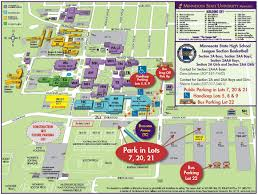 Michigan State Campus Map by Maps U0026 Directions U2013 Parking U2013 Minnesota State University Mankato