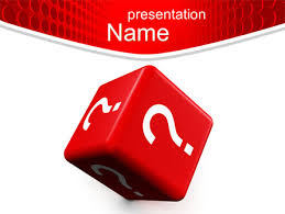 question cube powerpoint template backgrounds 10582
