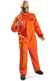 inmate halloween costume psycho ward prisoner uniform mask mens fancy dress halloween