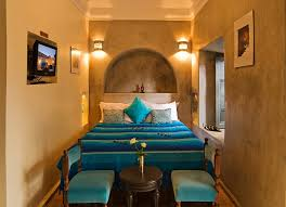 bedroom at riad papillon marrakech morocco holidays rock the