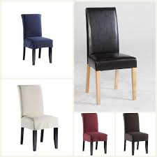 Chair Covers For Dining Room Chairs Sure Fit Stretch Leather Dining Room Chair Cover Brown Dining