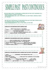 438 free esl past simple vs continuous tense worksheets