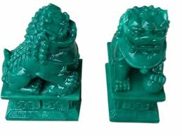 jade lion statue pair of jade finish temple lion statues all feng shui anjian