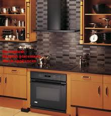 black backsplash kitchen i really like this matte and shiny black tiles or is that gray