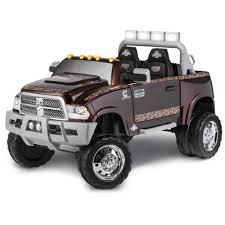green camo jeep kid trax ram 3500 dually longhorn edition 12 volt battery powered