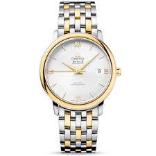 bracelet gold watches images Omega de ville prestige 37mm steel yellow gold men 39 s bracelet watch jpg
