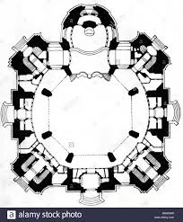 19th Century Floor Plans Architecture Floor Plans Dresden Frauenkirche Built 1726 1743