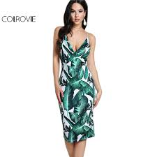 aliexpress com buy colrovie backless fitted slip dress green