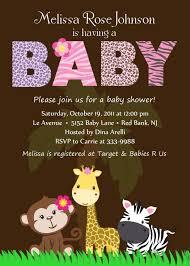 Baby Invitation Card Design Safari Baby Shower Invitations Theruntime Com