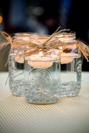 jar center pieces jar centerpieces floating candles emmaline
