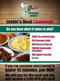 Challenge Original Original Pancake House S Lester S Meal Deal Challenge Roseville