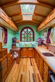 Interiors Of Tiny Homes Love Love The Roof In This Portland Tiny House Community Tiny