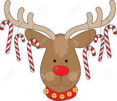 candy cane clipart cute reindeer head pencil and in color candy