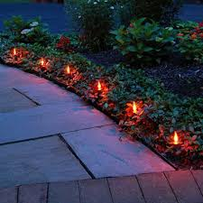 flickering orange electric pathway lights set of   total  with flickering orange electric pathway lights set of   total lights from samsclubcom