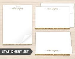 personalized stationery sets personalized stationery etsy