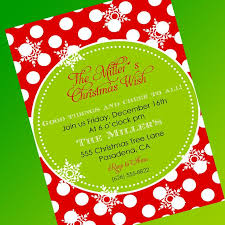 christmas dinner invitation wording wording invites for holiday party cards saflly free printable