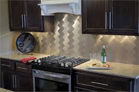 Aspect Peel  Stick Metal Tiles Champagne Champagne Long Grain - Aspect backsplash tiles