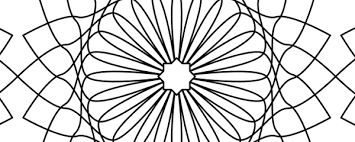 free islamic coloring flower star