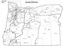 map of oregon state oregon blue book senate district maps