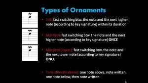 music theory 2 3 ornaments youtube