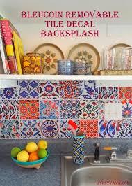 diy backsplash ideas for renters bleucoin tile decal backsplash tile decals turkish tiles and