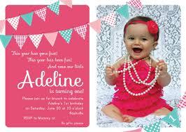 Sample Of 7th Birthday Invitation Card First Birthday Invite Haskovo Me