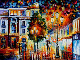 lonely couples u2014 palette knife oil painting on canvas by leonid