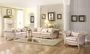 3 Pc Living Room Set 3 Pc Homelegance Chambord Wood Trim Fabric Sofa Set Usa
