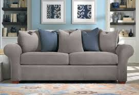 Sprintz Sofas Living Room Sure Fit Sleeper Sofa Slipcover In Stretch Pique Three