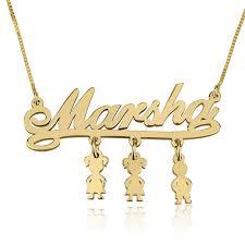 Child Name Necklace Child Name Necklace Gold Necklaces U0026 Pendants