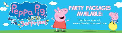 peppa pig live surprise
