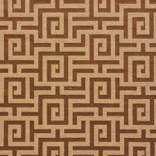 Geometric Fabrics Upholstery Brown And Gold Shiny Geometric Luxurious Faux Silk Upholstery