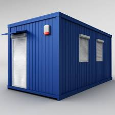 shipping container house 2 3d model cgstudio