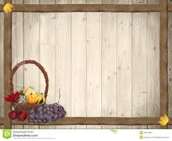 autumnal background with wooden planks and thanksgiving basket