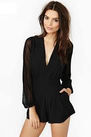 plus size black mesh long sleeve club romper long sleeve tops