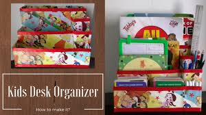 kids desk organizer cereal box multipurpose organizer recycled