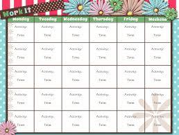 printable workout calendar activity shelter calendar template