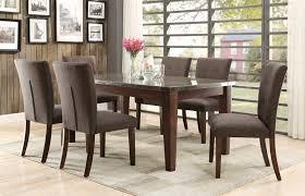 homelegance dorritt 7 piece dining set with bluestone table top
